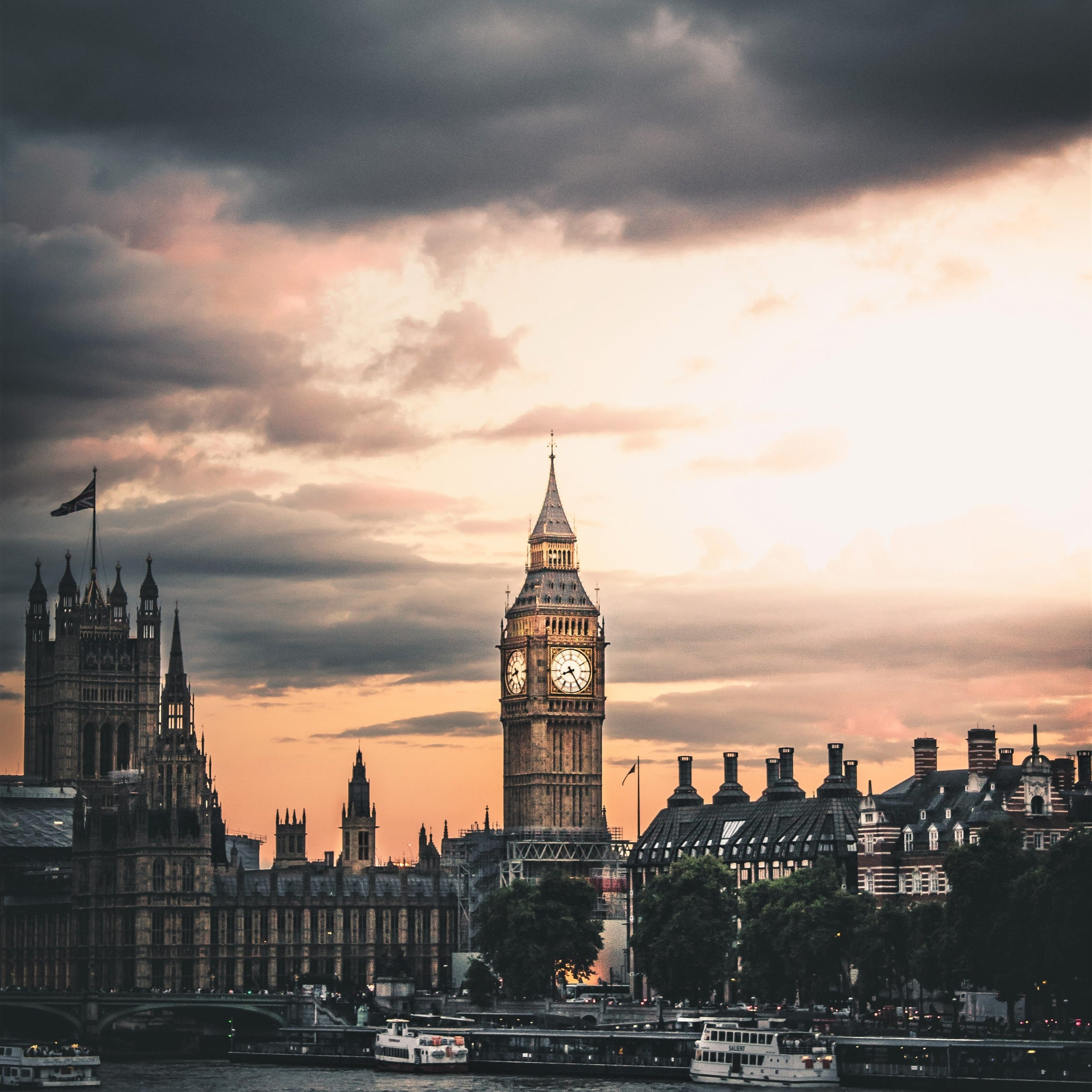 A gloomy, foreboding image of Big Ben to symbolise whether the creative industry is heading out of London and up north