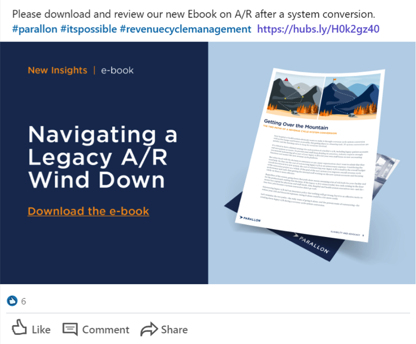 Post-click landing page